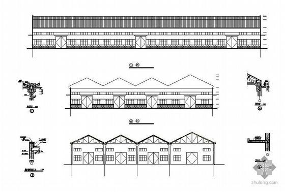 某木屋架结构厂房图