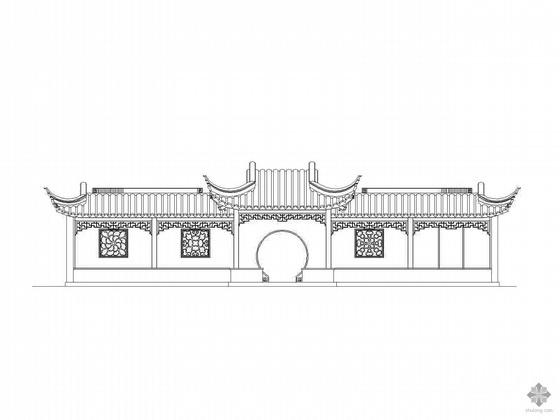 [木结构仿古建筑]五间廊建筑施工图