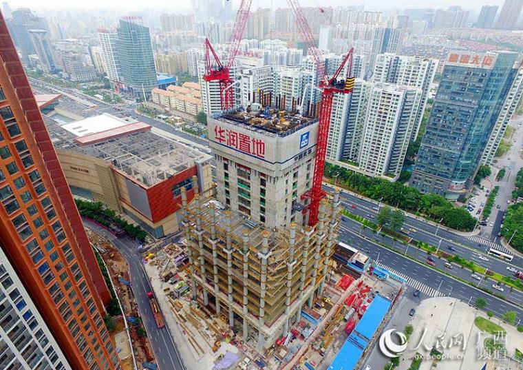 445米高广西第一高楼南宁华润中心东写字楼突破100米大关!