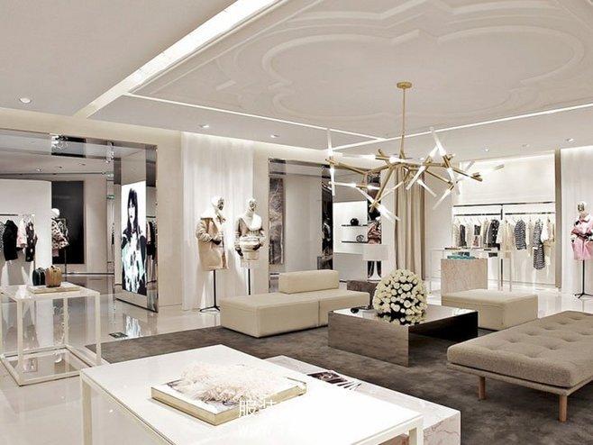[图片欣赏]服装店试衣间装修效果图 和 服装店装修灯光效果图