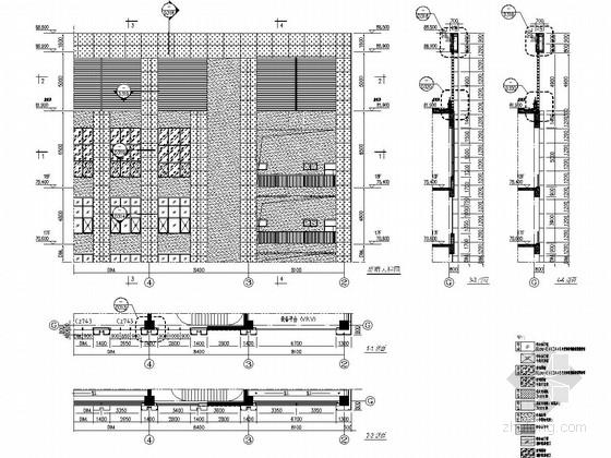 18层环保大楼幕墙施工图(明框玻璃幕墙铝板幕墙)-幕墙大样图