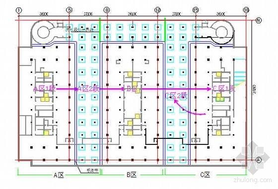 北京某商业广场大体积混凝土施工方案(附图 底板厚1.8m)