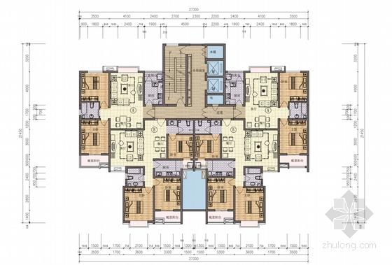 现代高层安置住房居住区平面图图片