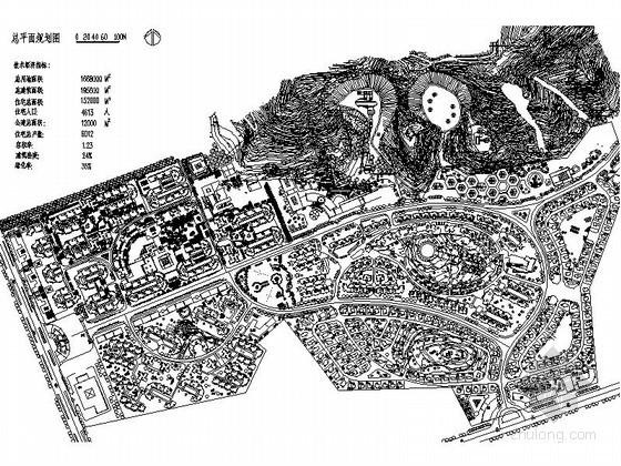 某一百六十万平米地块花园居住区规划方案总平面图