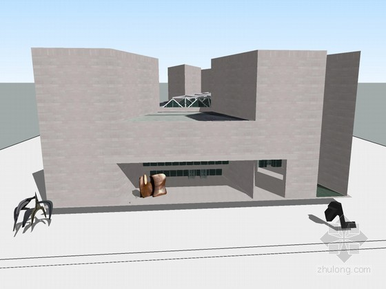 美国国家美术馆东馆SU建筑模型