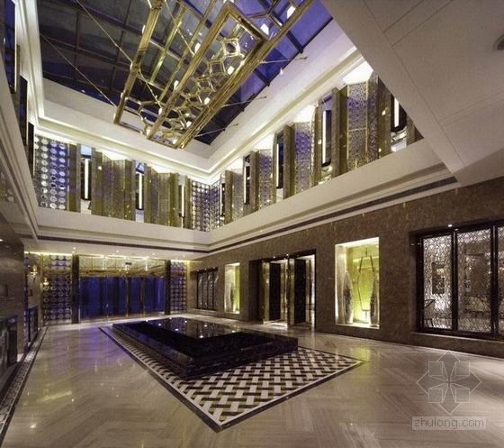 [上海]市级行政区高档简欧风格售楼处CAD装修施工图(含全套方案)效果图