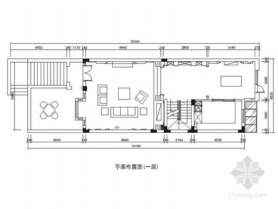 [江苏]风景区华丽高雅奢华黑白新古典联体别墅室内装修设计施工图(含效果)