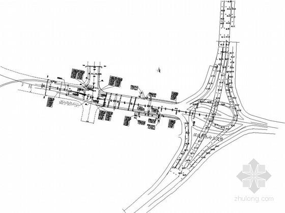 城市主干路跨铁路桥改造工程施工图全套129张(交通照明绿化排水)