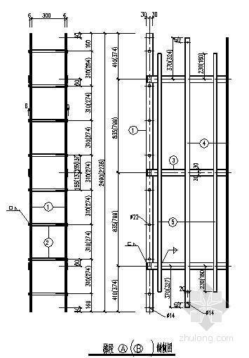 钢烟囱爬梯节点构造详图