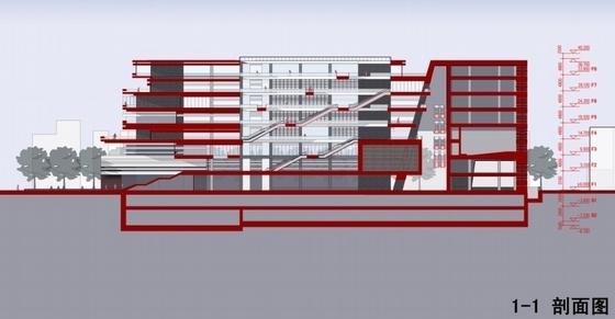 图书馆剖面图