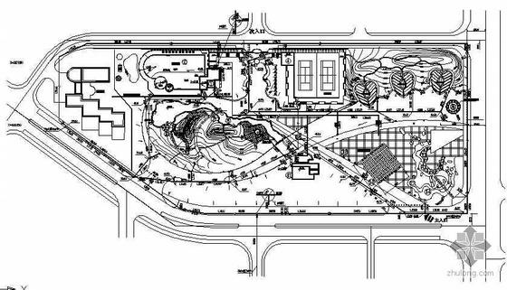 某小区休闲广场给排水平面布置图