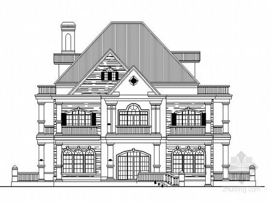 某二层自建别墅建筑方案图(带阁楼)