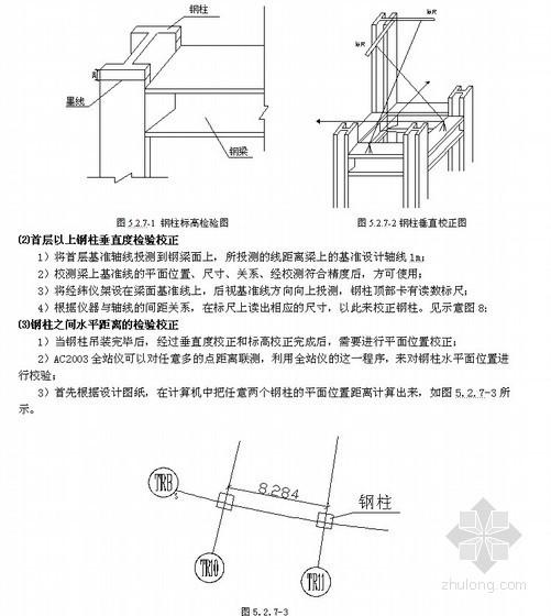 高层钢结构施工测量放线工法(全站仪 三维坐标定位)