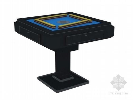 自动麻将桌3D模型下载