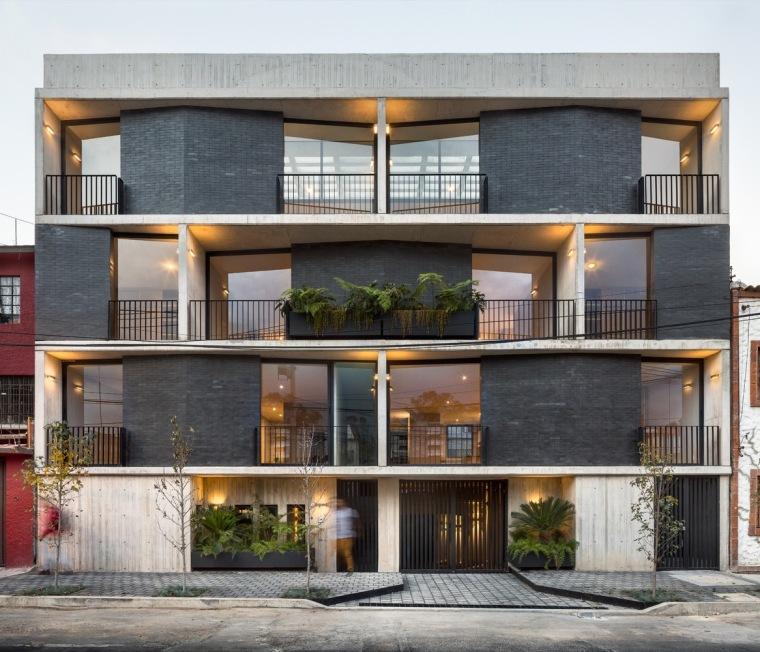 墨西哥的混凝土公寓