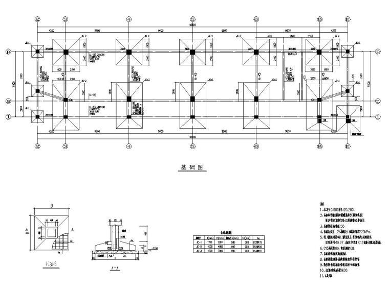 4层框架结构中学综合教学楼结构施工图