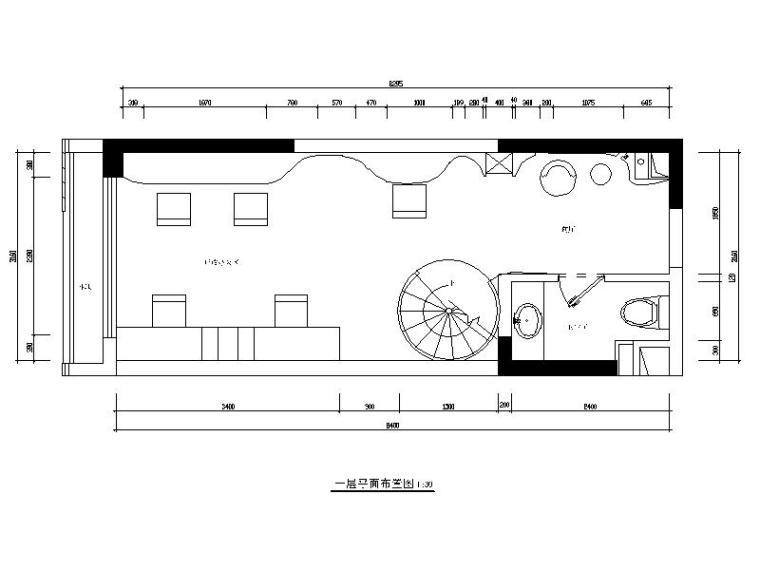 现代风格两层办公室设计CAD施工图(含效果图)