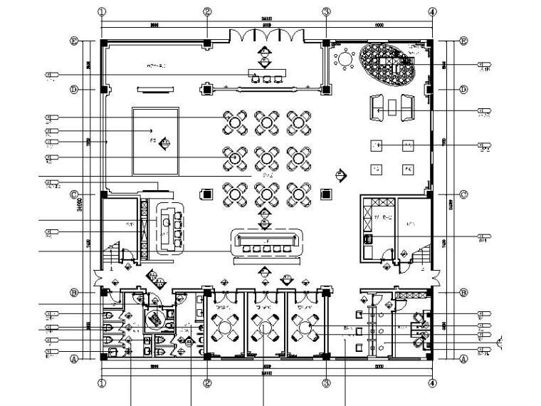 [苏州]精品简约大气售楼处室内设计施工图(含效果图)
