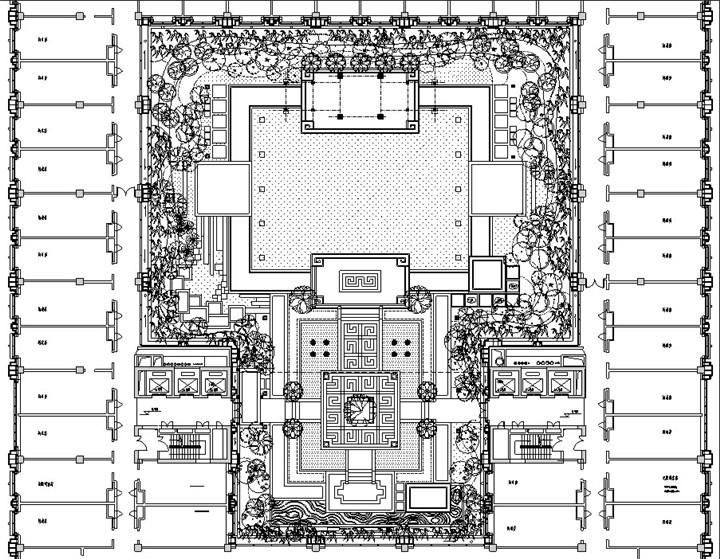 屋顶花园改造索引平面图