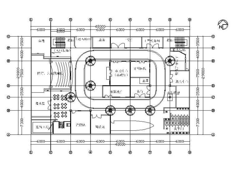 [安徽]某市大型儿童社会体验馆室内设计施工图(含手绘方案)