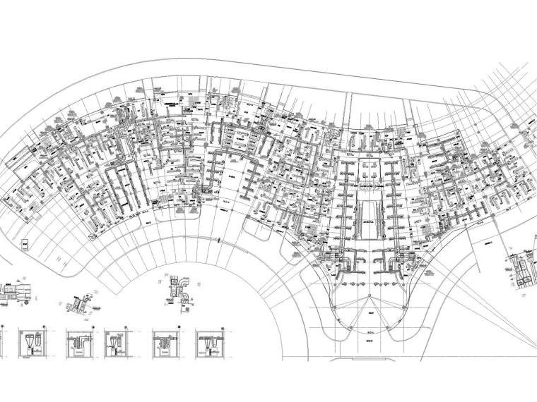 [重庆]高层医院空调通风防排烟系统设计施工图(多联机系统)-裙房一层空调通风平面图.jpg