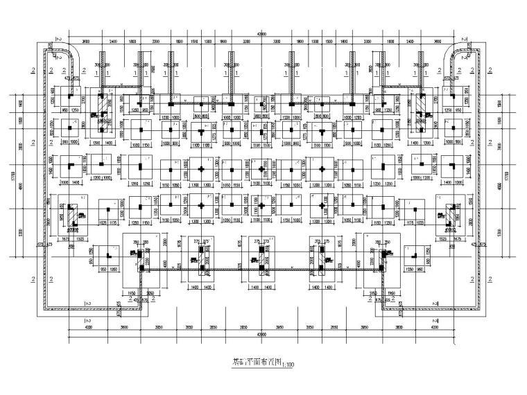 三层联排别墅建筑结构施工图