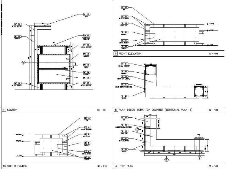 【超全】5600多套室内设计施工图大样节点剖面图合集_3