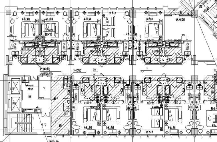 江西省超高层酒店办公大厦暖通全套施工图105张(50层212米)