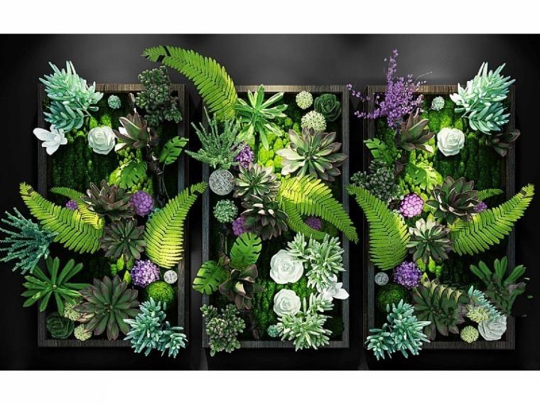 [1元下载]超精细多肉植物3D模型_1