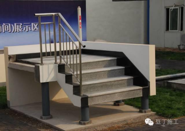 楼梯、地面工程已完工,各位领导请验收
