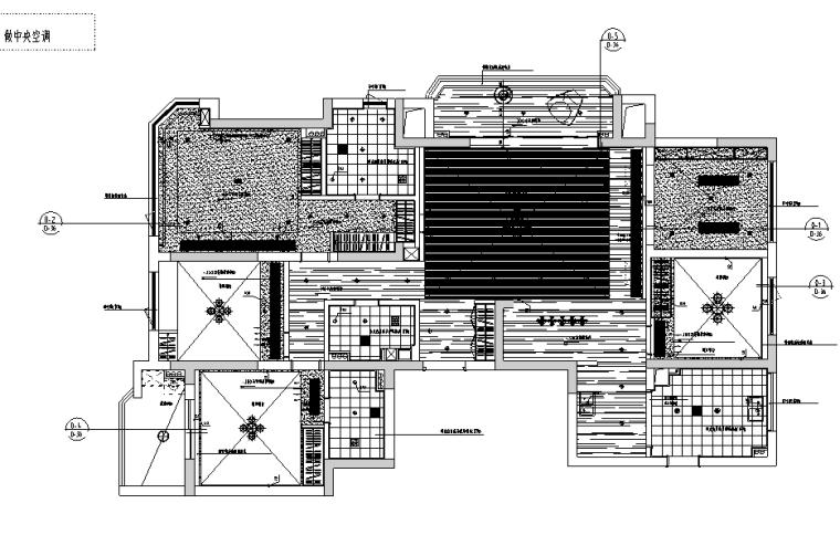 春江彼岸现代简约风样板房设计施工图(附效果图)_2