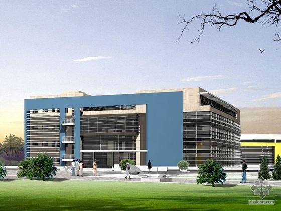 [浙江]某工业大学小和山校区1-A地块 图书馆建筑设计方案与文本