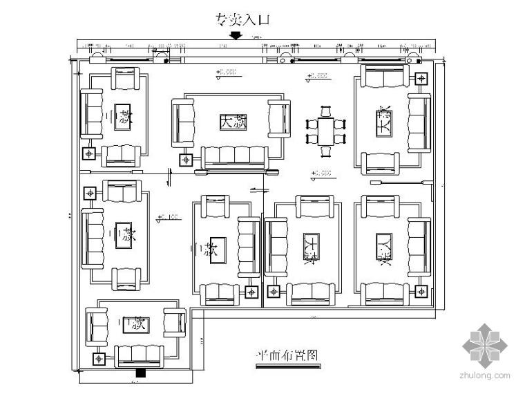 [广东]某家具厂沙发展厅标准设计方案