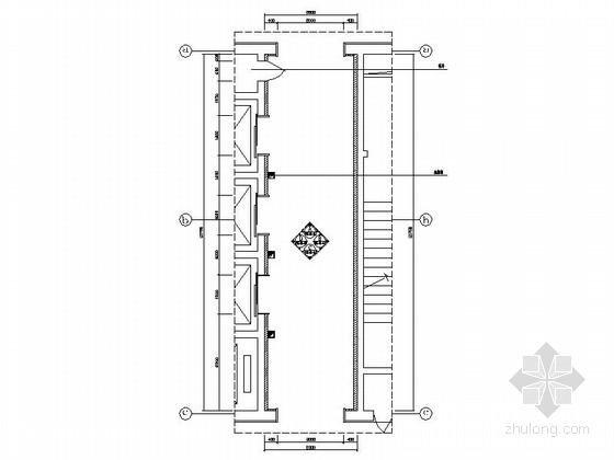[重庆]四星级现代简约酒店电梯间室内装修施工图