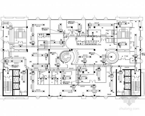 [广州]15层豪华酒店空调通风及防排烟系统设计施工图