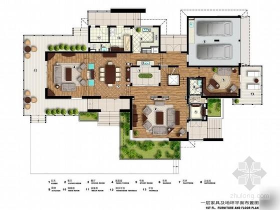 [北京]田园风情双层别墅设计方案图