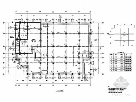[辽宁]五层框架结构教学楼结构施工图