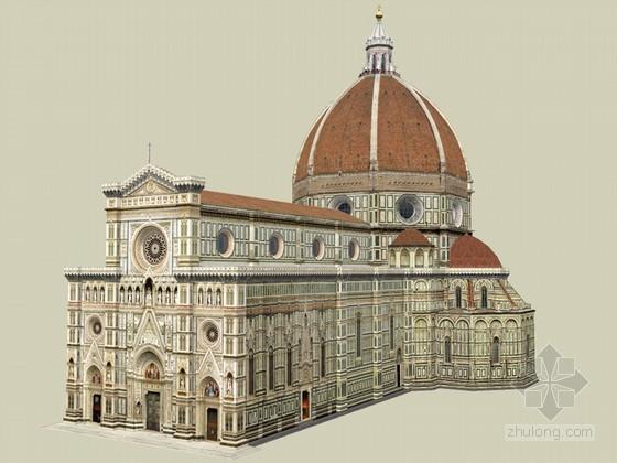 欧式教堂SketchUp模型下载