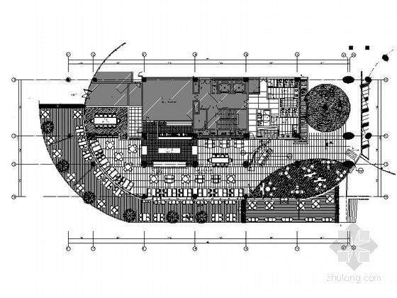 [福建]豪华游艇会所自助餐厅装修设计施工图
