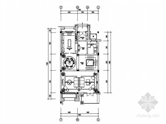 [北京]传统意大利风格奢华样板房施工图(含方案汇报、材料表)