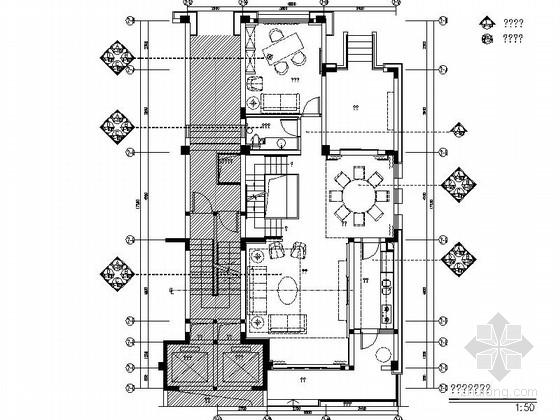 [成都]瑰丽风格三层别墅样板间室内装修图(含方案文本)