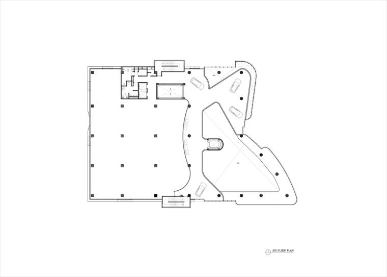 九转回环、流畅现代的车展大厅及办公楼设计_12