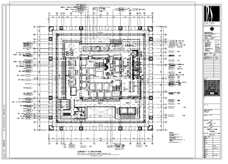 广东某五星酒店施工图纸附实景照片