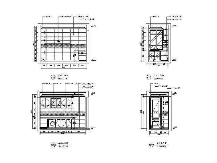 【江苏】两套样板房设计CAD施工图(含效果图)_4