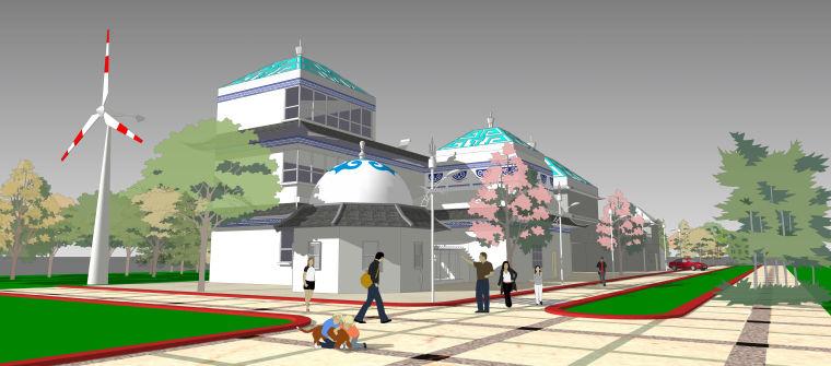 低碳民居整合建筑设计模型