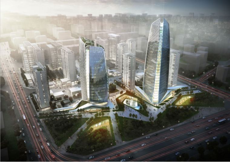 [北京]未来感超高层中小企业综合基地建筑设计方案文本