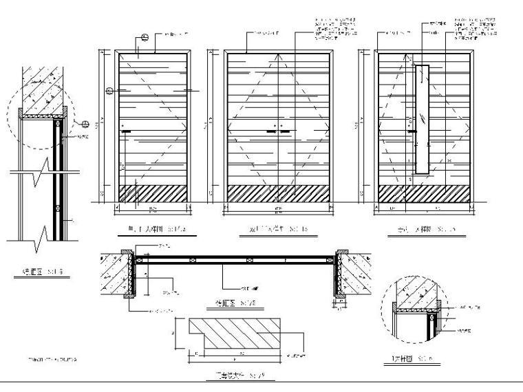 施工节点集合-木门,玻璃门