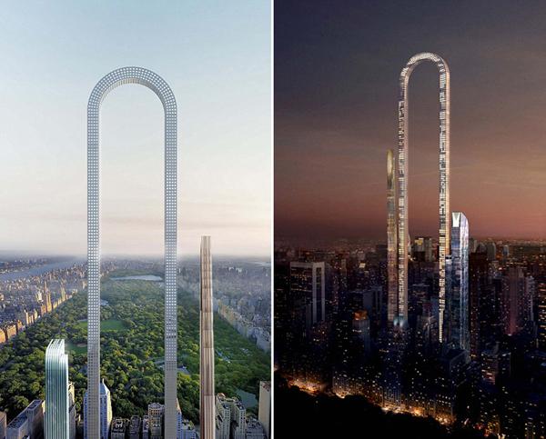 美国欲建U型摩天大楼,将成世界最长建筑