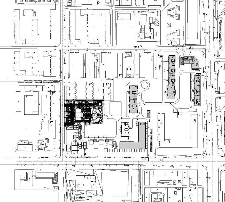 cad)图纸包含:封面,图纸目录,设计说明,物料及工程做法表,北区总平面图片