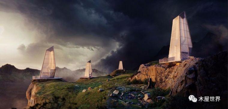 史诗般超科幻设计,冰岛小木屋